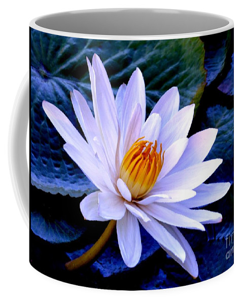 Tranquil Coffee Mug featuring the photograph Tranquil Lily by Lisa Renee Ludlum