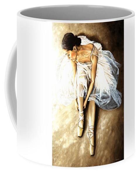 Ballet Coffee Mug featuring the painting Tranquil Preparation by Richard Young