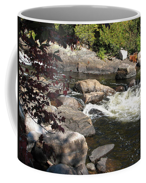 River Coffee Mug featuring the photograph Tranquil Spot by Kelly Mezzapelle