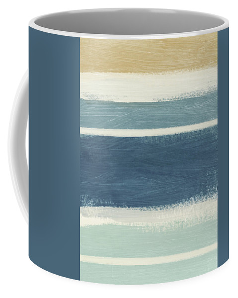 Stripes Coffee Mug featuring the painting Tranquil Stripes- Art By Linda Woods by Linda Woods