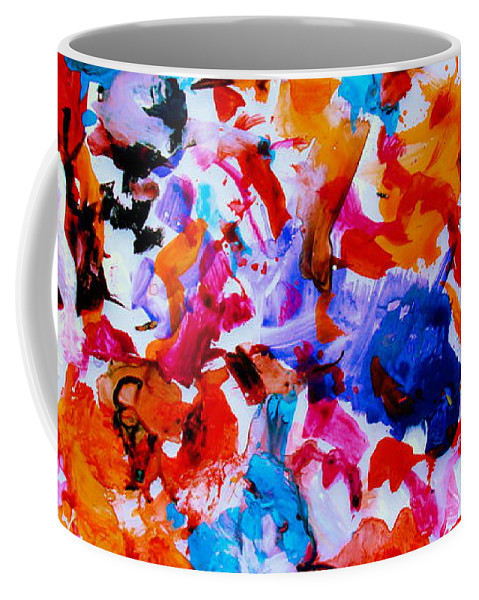 Abstract Coffee Mug featuring the painting Tranquility by Natalie Holland