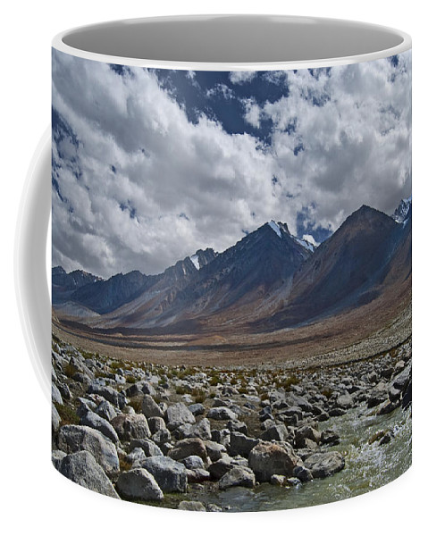 Festblues Coffee Mug featuring the photograph Tranquility... by Nina Stavlund