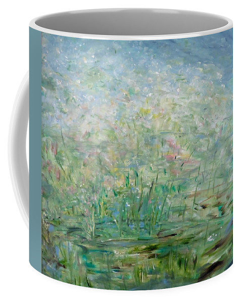 Impressionistic Landscape Coffee Mug featuring the painting Transcendence by Sara Credito
