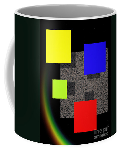 Abstract Coffee Mug featuring the digital art Transformation II by Richard Rizzo