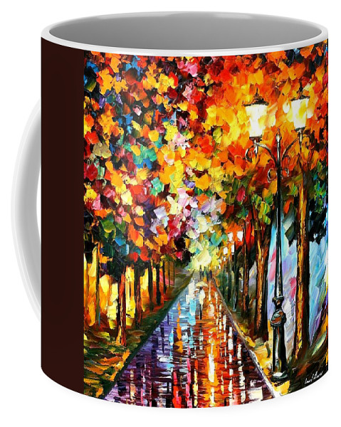 Afremov Coffee Mug featuring the painting Transformation Of The Night by Leonid Afremov