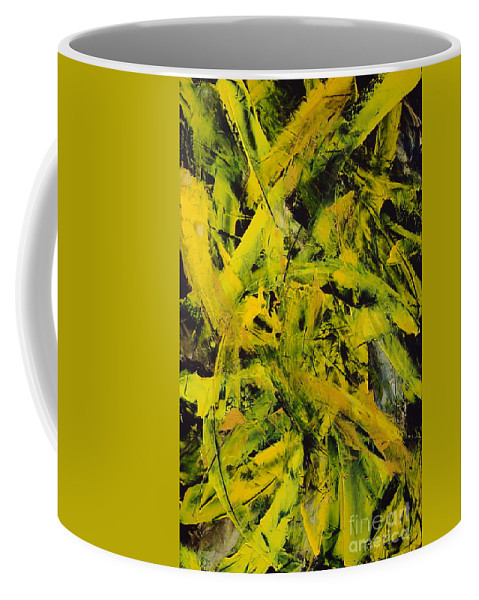 Abstract Coffee Mug featuring the painting Transitions Vi by Dean Triolo
