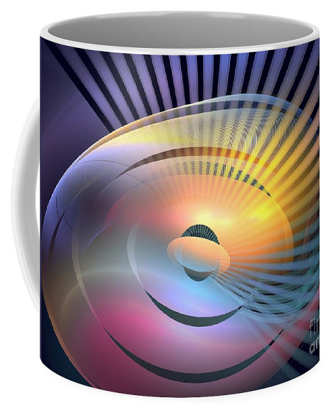 Apophysis Coffee Mug featuring the digital art Transitory by Kim Sy Ok