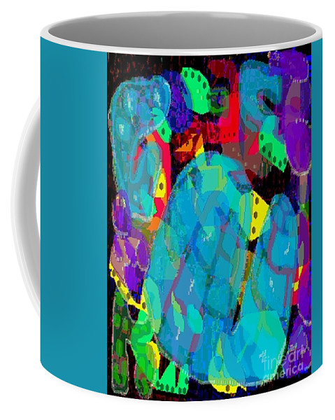 Digital Coffee Mug featuring the digital art Transparencies by Ron Bissett