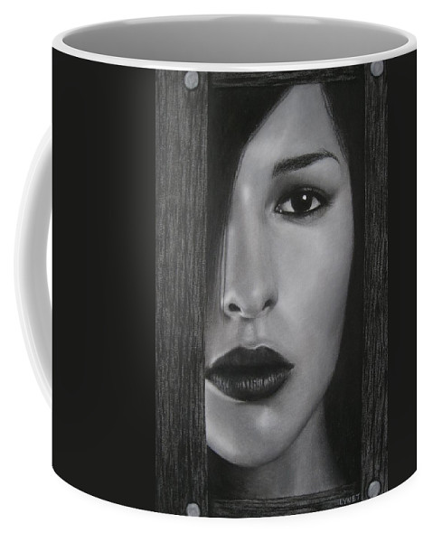 Woman Coffee Mug featuring the painting Trapped by Lynet McDonald