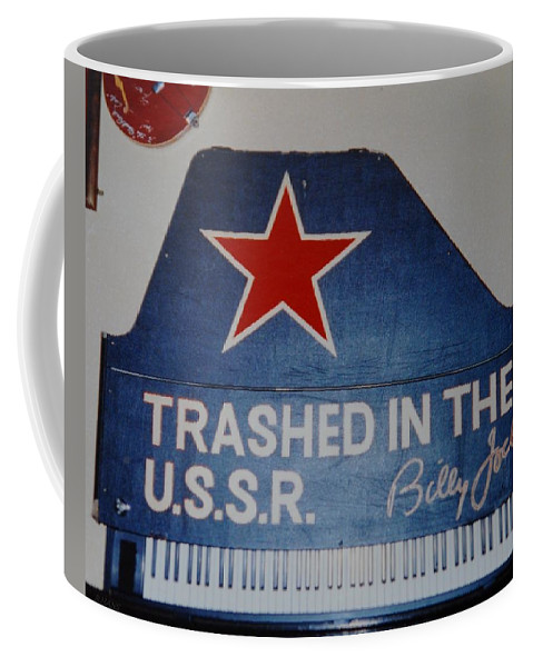 Billy Joel Coffee Mug featuring the photograph Trashed In The U S S R by Rob Hans