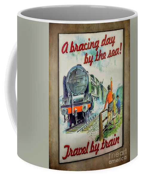 Loco Coffee Mug featuring the photograph Travel By Train by Adrian Evans