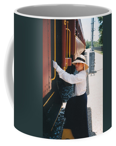Snood Coffee Mug featuring the photograph Traveling By Train by Cindy New
