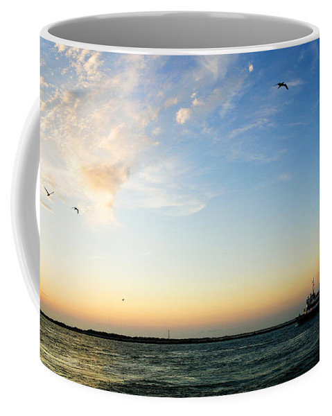 Sip Coffee Mug featuring the photograph Travels At Sunset by Marilyn Hunt