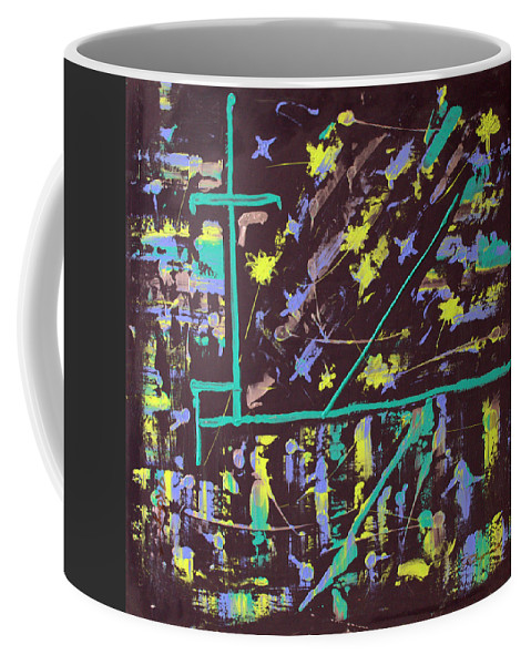 Impressionist Painting Coffee Mug featuring the painting Trawler And Wharf by J R Seymour