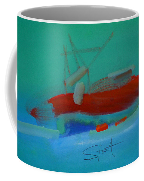 Fishing Boat Coffee Mug featuring the painting Trawler by Charles Stuart