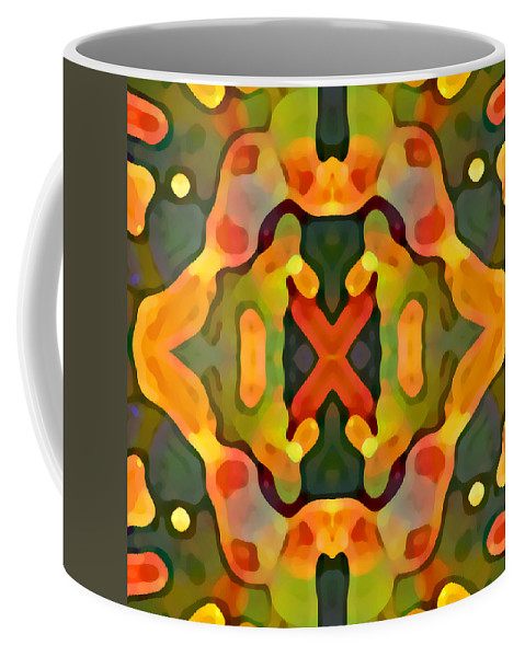 Abstract Coffee Mug featuring the painting Treasure by Amy Vangsgard