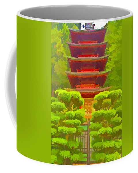 San Francisco Coffee Mug featuring the photograph Treasure Tower by Ches Black
