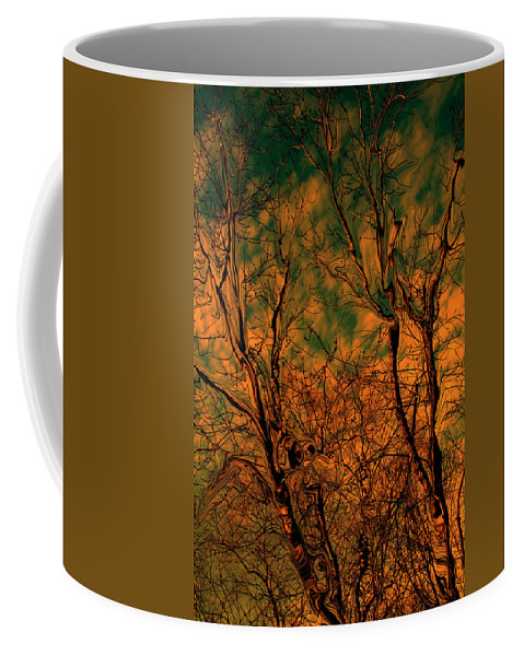 Trees Coffee Mug featuring the photograph Tree Abstract by Linda Sannuti