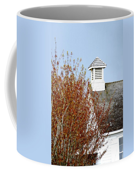 Or Coffee Mug featuring the photograph Tree And School House 795 by Jerry Sodorff