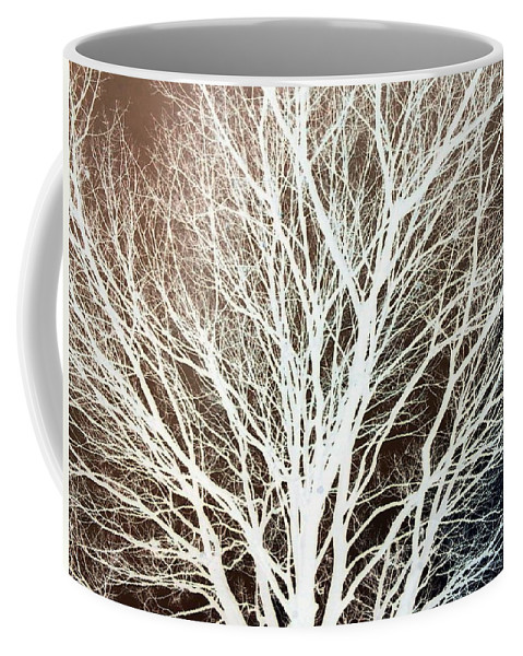 Tree Brown Negative Coffee Mug featuring the photograph Tree by Cindy New