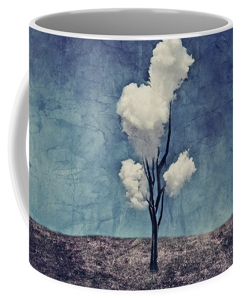 Tree Coffee Mug featuring the digital art Tree Clouds 01d2 by Aimelle