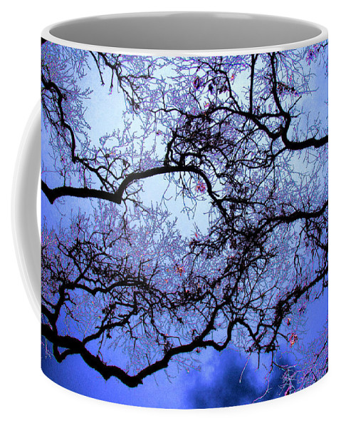 Scenic Coffee Mug featuring the photograph Tree Fantasy In Blue by Lee Santa