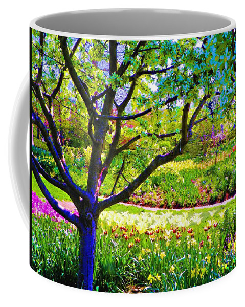 Print On Canvas Coffee Mug featuring the painting Tree In Spring by Susanna Katherine