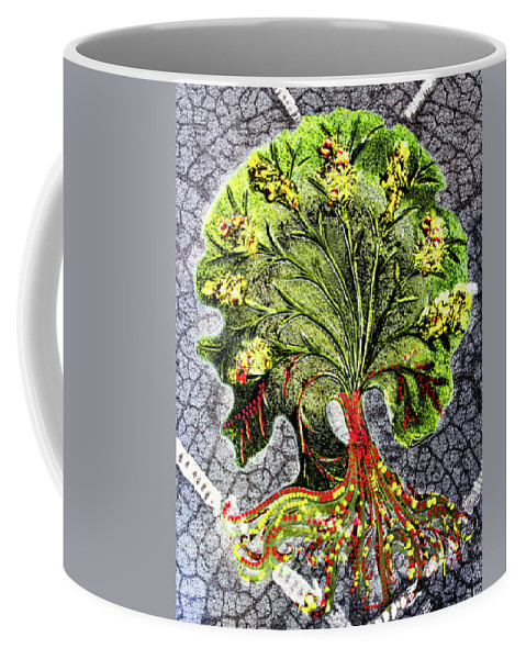 Tree Coffee Mug featuring the digital art Tree In The Garden On Aluminum Substate by Sterling Haidt