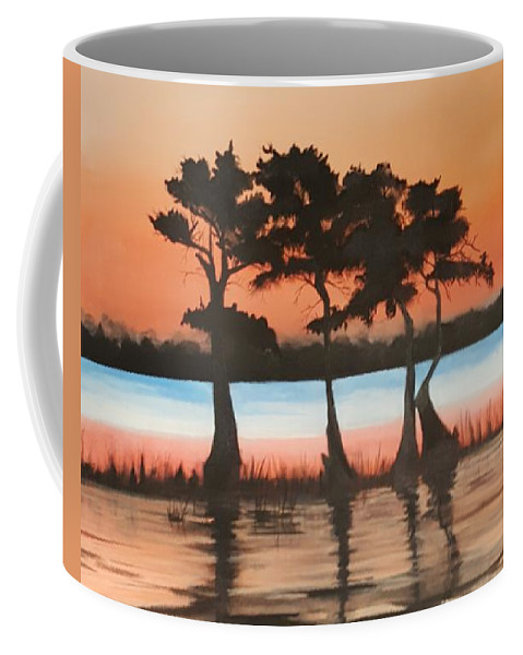 Cypress Coffee Mug featuring the painting Tree Kings by Edward Walsh