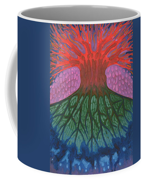 Colour Coffee Mug featuring the painting Separation by Wojtek Kowalski