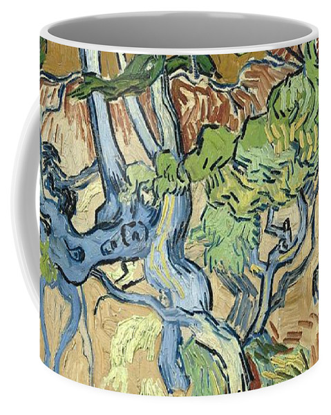 Art Coffee Mug featuring the painting Tree-roots by Artistic Panda