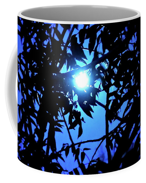 Sky-scape Coffee Mug featuring the photograph Treed Moon by Bonnie See