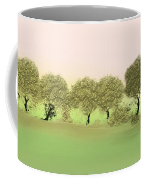 Tree Coffee Mug featuring the painting Treeline by Gina Lee Manley
