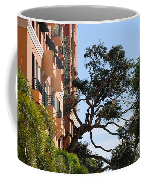 Architecture Coffee Mug featuring the photograph Trees In Space by Rob Hans