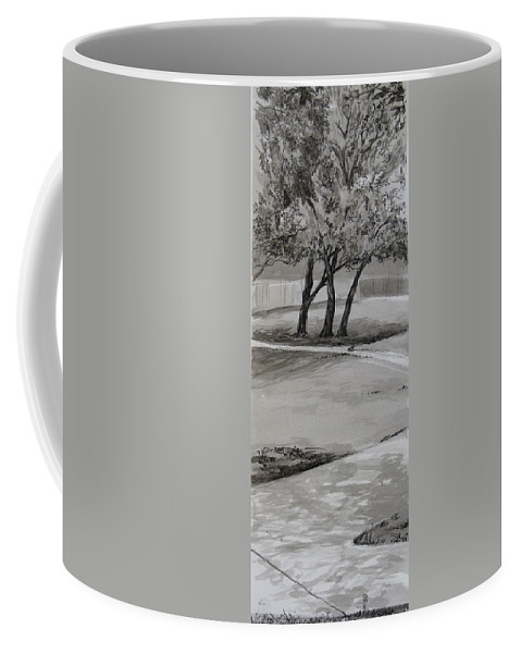 Park Coffee Mug featuring the drawing Trees In The Park by Karen Boudreaux