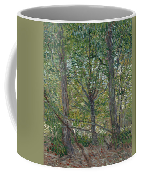 Nature Coffee Mug featuring the painting Trees Paris, July 1887 Vincent Van Gogh 1853 1890 by Artistic Panda