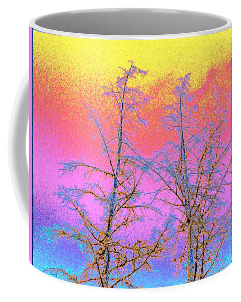 Abstract Coffee Mug featuring the digital art Treetops 1 by Will Borden