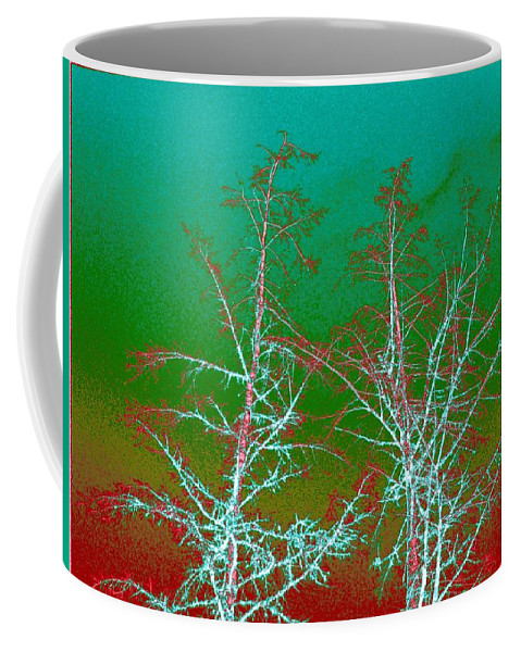 Abstract Coffee Mug featuring the digital art Treetops 2 by Will Borden