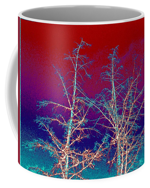 Abstract Coffee Mug featuring the digital art Treetops 4 by Will Borden