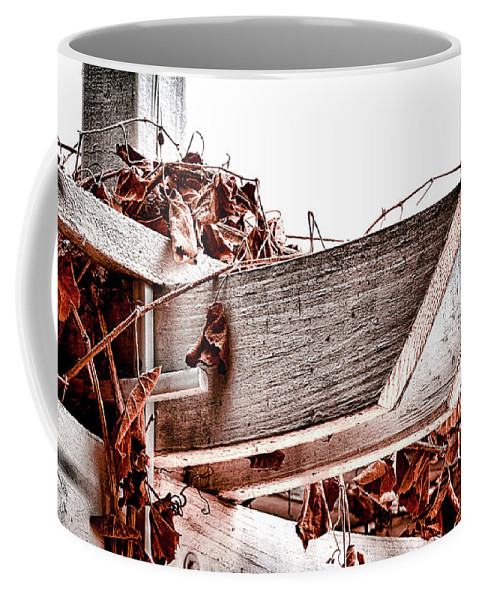 Trellis Coffee Mug featuring the photograph Trellis by Camille Lopez