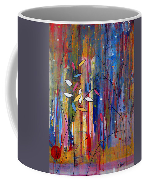 Abstract Coffee Mug featuring the painting Tres Jolie by Ruth Palmer