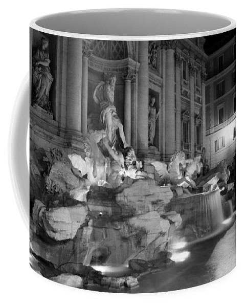 Trevi Fountain Coffee Mug featuring the photograph Trevi Fountain Night 2 by Andrew Fare