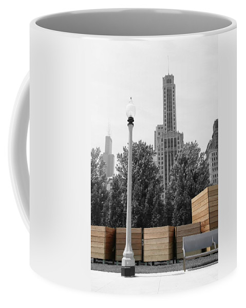 Cityscape Coffee Mug featuring the photograph Tri Towers by Dylan Punke