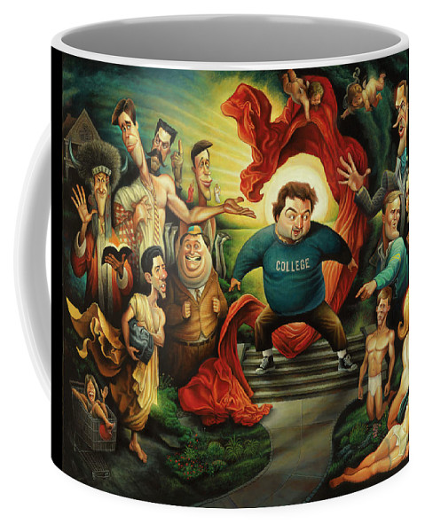 Coffee Mug featuring the painting Tribute To Animal House by David O'Keefe