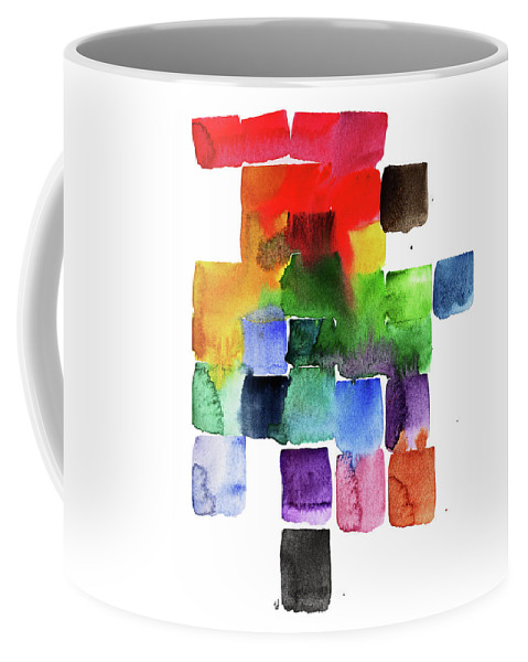 Rainbow Coffee Mug featuring the painting Trickle Down Effect by Tonya Doughty