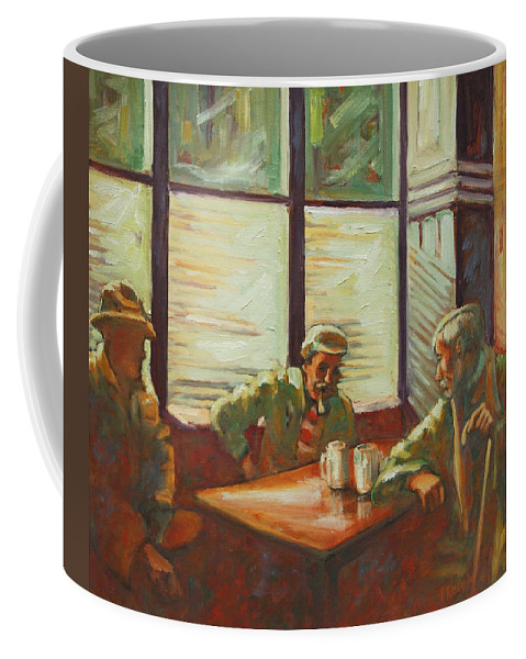 Men Coffee Mug featuring the painting Triest by Rick Nederlof