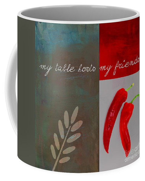 Red Coffee Mug featuring the digital art Trilioli Kitchen Decor - Red 153z by Variance Collections