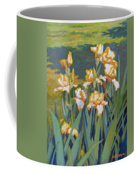 Impressionism Coffee Mug featuring the painting Trimmed In Gold by Keith Burgess