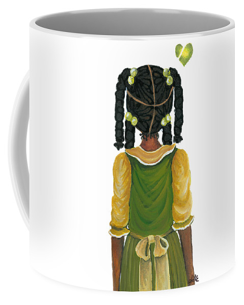 Coffee Mug featuring the painting Nia by Sonja Griffin Evans