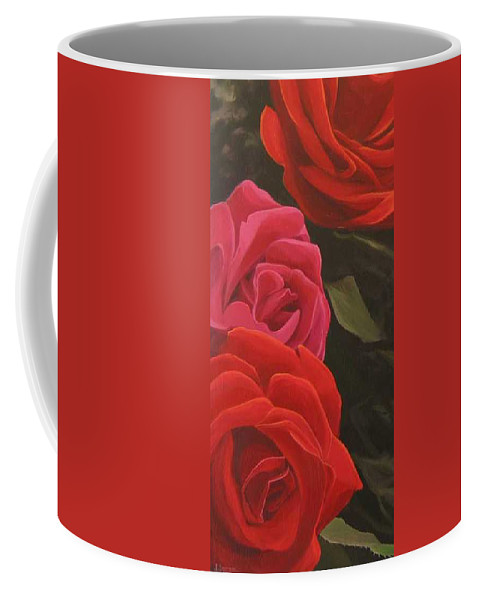 Roses In Italy Coffee Mug featuring the painting Trio by Hunter Jay